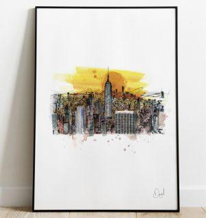New York - Bright lights, big city art print