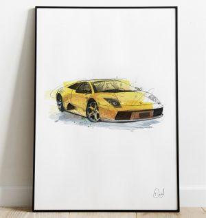 Lamborghini Murcielago - The Bat art print