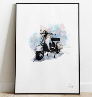 Vespa - GS art print