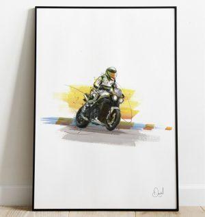 Triumph - Triple Speed motorcycle art print