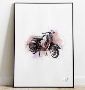 Vespa - VNA art print