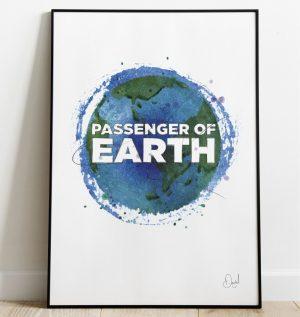 Passenger of Earth - Typographic art print