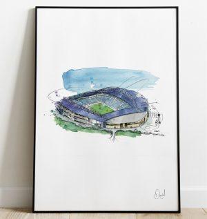 Brighton & Hove Albion FC - Amex Stadium art print
