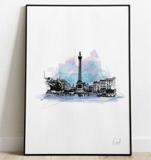 London - Trafalgar Square art print