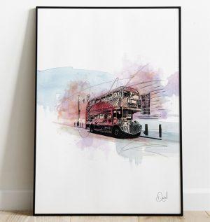 London Bus - Routemaster art print