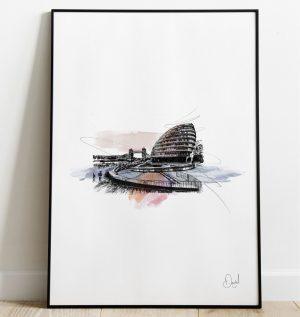 London - City Hall art print