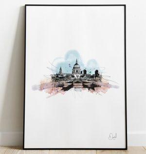 London - St Pauls Cathedral art print
