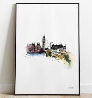 London - Big Ben art print