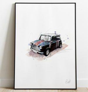 Classic Mini - Britannia art print