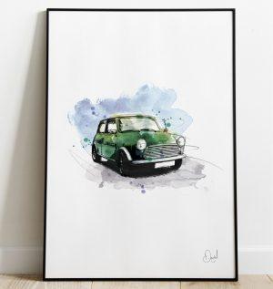 Classic Mini - Racing Green art print