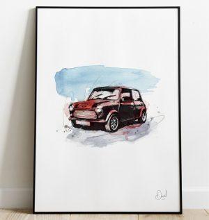 Classic Mini - Cooper art print