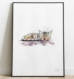 Let Sleeping Cats Lie art print