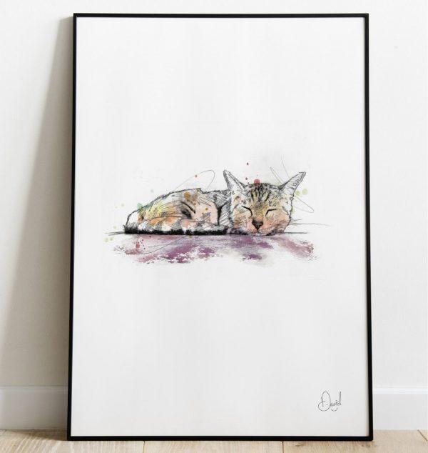 David Marston Art - Cats - Let Sleeping Cats Lie