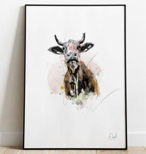 Daisy the Cow art print