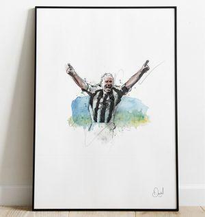 Newcastle United - Alan Shearer art print