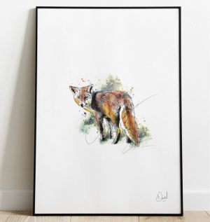 The wiley old Fox art print