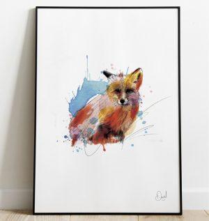 Out foxed - Fox art print