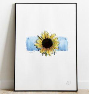 Just another Sunflower art print