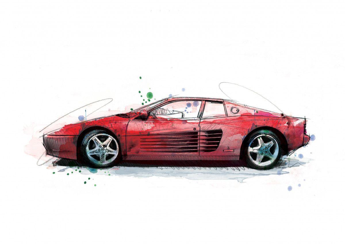 062 Dm Ferrari Testarossa Art
