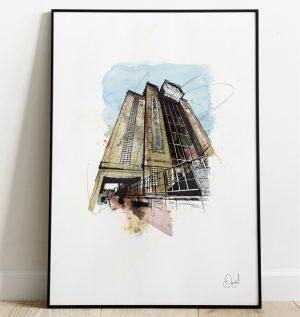 Newcastle - Gateshead - The Baltic art print