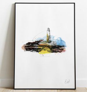 Newcastle - Whitley Bay - St Mary's Lighthouse art print