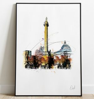 Newcastle - Grey's Monument art print