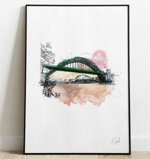 Newcastle Tyne bridge - It's about Tyne art print