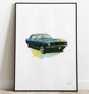 Ford Mustang - Mustang Untamed art print