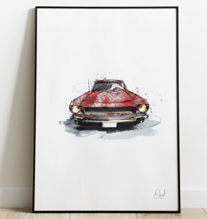 Ford Mustang  - Mustang Sally art print