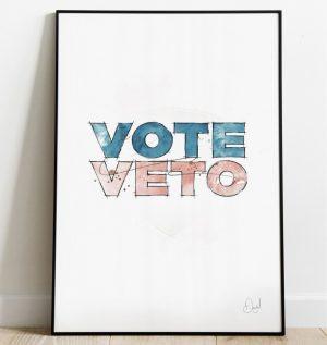 Vote / Veto art print