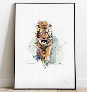 A Tiger came to tea art print