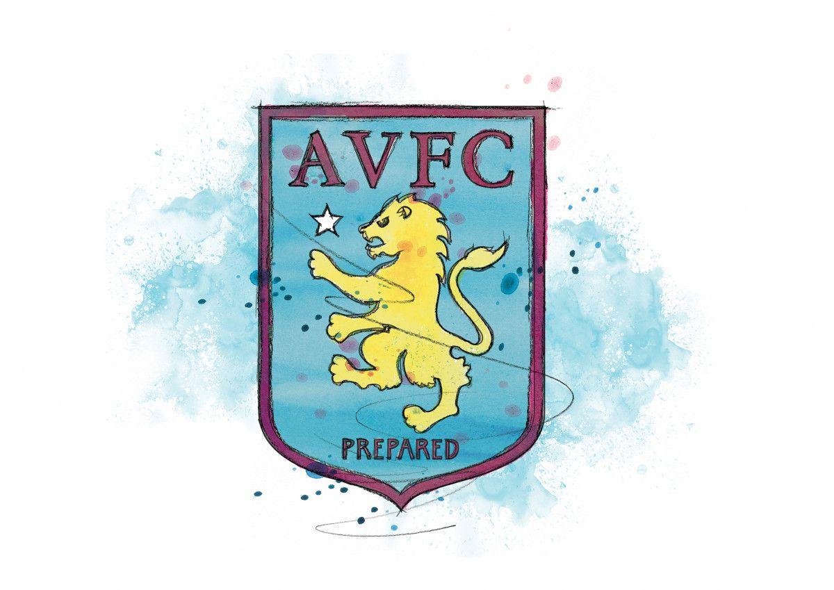 00245 Dm Aston Villa Badge Art