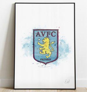 Aston Villa FC Badge art print