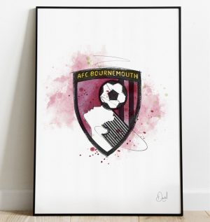 AFC Bournemouth Badge art print