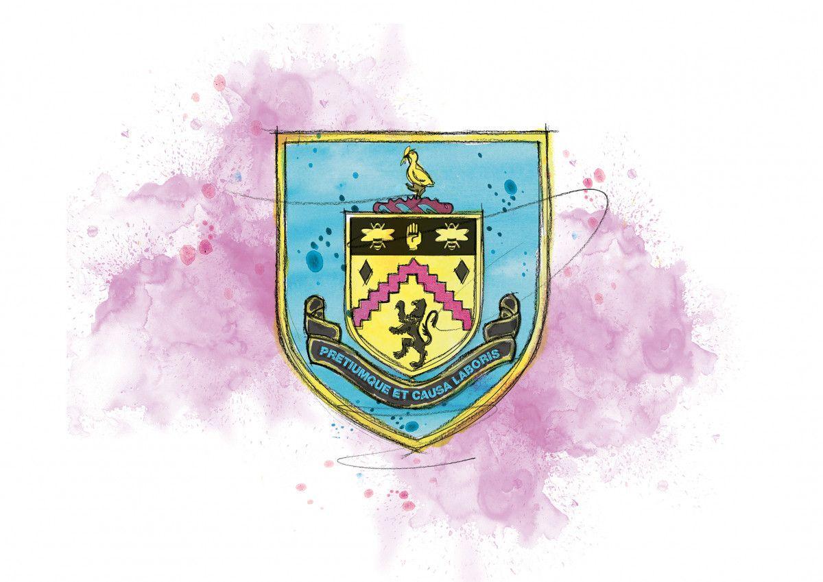 00247 Dm Burnley Badge Art