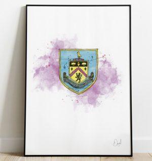 Burnley FC Badge art print
