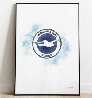 Brighton & Hove Albion FC Badge art print