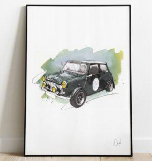 Classic Mini - A Mini adventure art print