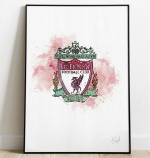 Liverpool FC Badge art print
