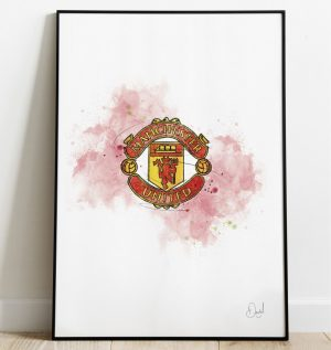 Manchester United FC Badge art print