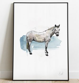 The Grey Horse art print