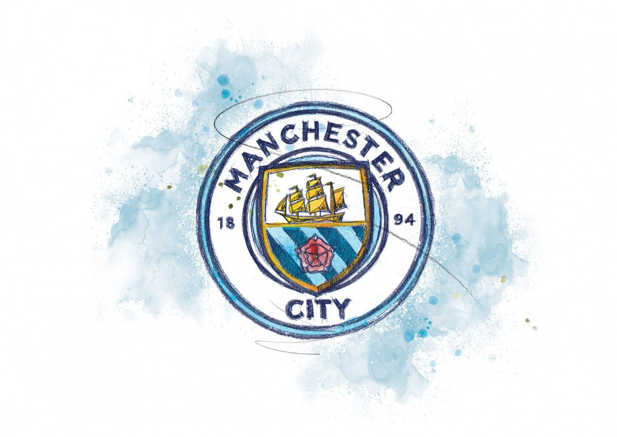 0254 Dm Manchester City Badge Art