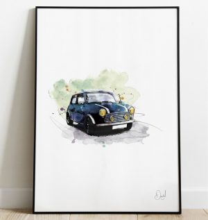 Classic Mini - Tahiti Blue art print
