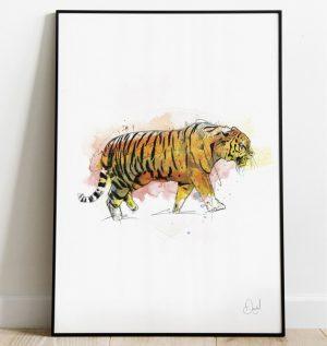 Tiger in tank art print