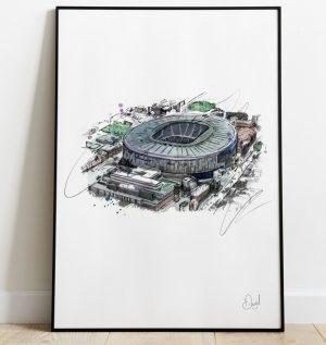 Tottenham Hotspur - Stadium art print
