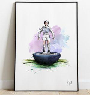 Tottenham Hotspur - Retro Subbuteo art print