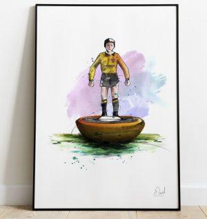 Wolverhampton Wanderers - Retro Subbuteo art print