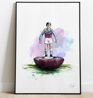 West Ham United - Retro Subbuteo art print