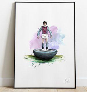 Aston Villa - Retro Subbuteo art print