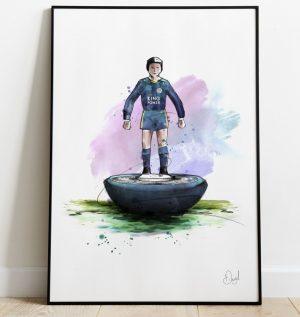 Leicester City - Retro Subbuteo art print